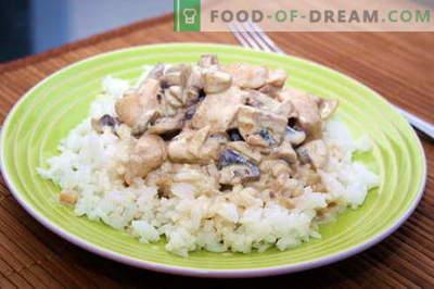 Kana kreemjas kastmes - parimad retseptid. Kuidas õigesti ja maitsva kokk kana kreemjas kastmes.