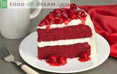 Red Velvet Cake on särav ja maitsev. Kuulsa kooki