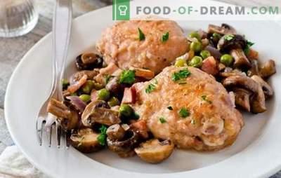 Kanaliha seentega on parim viis liha valmistamiseks külgliha jaoks. Kuidas süüa kana seentega (retsept samm-sammult)