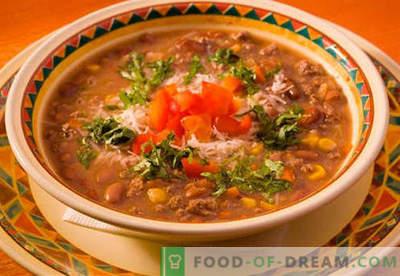 Liha supp - tõestatud retseptid. Kuidas õigesti ja küpsetada liha suppi.