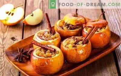 Küpsetage ahjus õunu õuna ja kaneeliga - rõõmu! Küpsetatud õunad mee ja kaneeliga omatehtud kookides