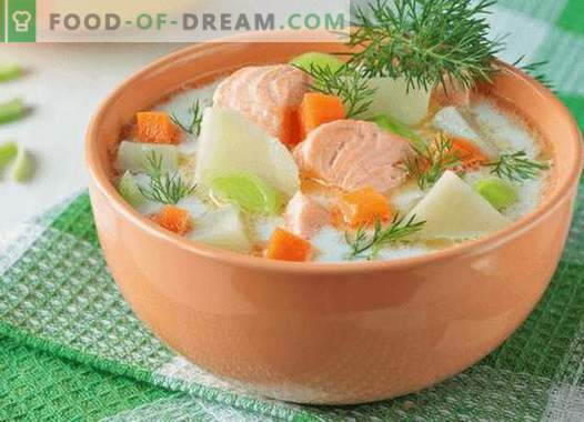 Lõhe supp - parimad retseptid. Kuidas õigesti ja maitsev kokk lõhe supp.