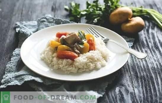 Türgi fricassee - mahlakas liha. Kalkuni fricassee valmistamine seente ja köögiviljadega, hapukoorega, koore ja valge veiniga.