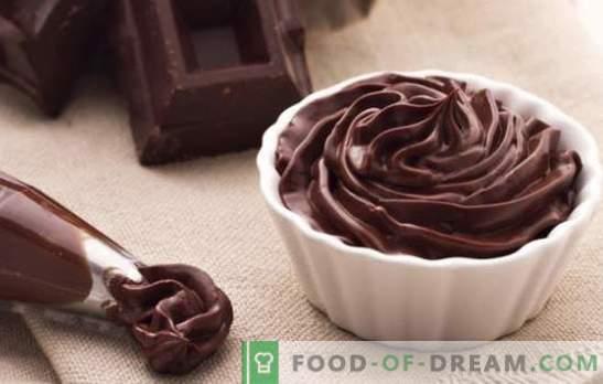 Ganache de ciocolată pentru a acoperi tortul - rețete și gătit. Toate regulile și rețetele de gustări de ciocolată pentru prăjituri