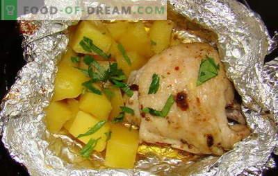 Kana kartuliga ahjus fooliumis - uued retseptid. Kuidas valmistada kana kartuliga ahjus fooliumis