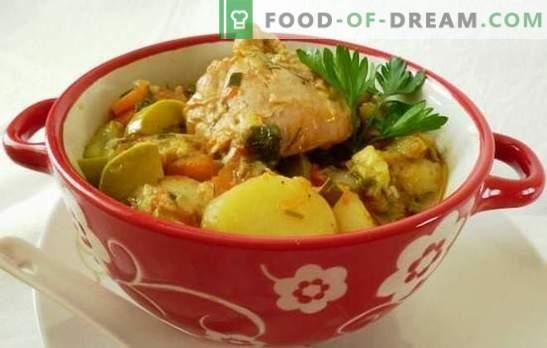 Ragout koos kanaga aeglases pliidis - toitev toitained. Kuidas valmistada kana hauta aeglases pliidis, säilitades samal ajal köögiviljade eelised