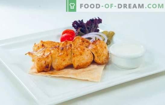 Nõuetekohane toitumine - kalkunid! Grillitud või grillitud kalkuni kebab kõige maitsvamas veinis või sidruni marinaadis