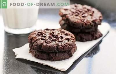 Šokolaadiküpsised: samm-sammult retsept maitsva küpsetamise jaoks. Maitsvaid ja aromaatseid šokolaadi kiibi küpsiseid küpsetades, kasutades järk-järgulisi retsepte
