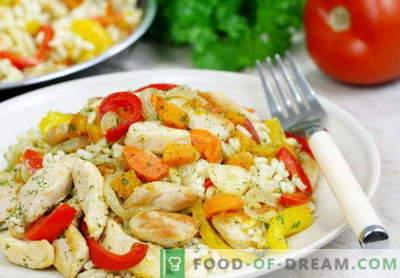 Kana riis - parimad retseptid. Kuidas õigesti ja maitsvaid riisi kanaliha valmistada.