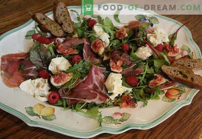 Mozzarella salat - tõestatud retseptid. Kuidas valmistada salat mozzarellaga.