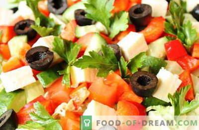Salatid ilma majoneesita - parimad retseptid. Kuidas korralikult ja maitsvatel salatitel kokk ilma majoneesita.