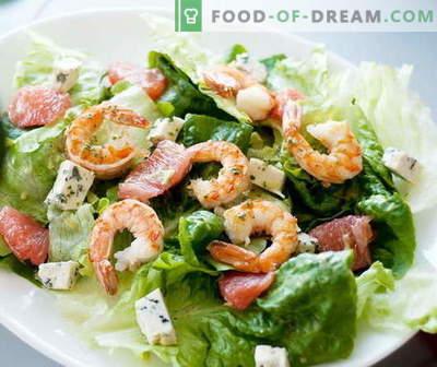 Kreveti salat - parimad retseptid. Kuidas õigesti ja maitsev kokk kreveti salat.