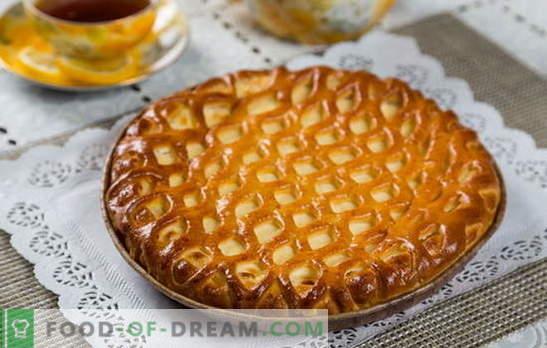 Торта с извара в бързаме - полезно тесто без караница. Как да се готви вкусно пай с извара в бързаме