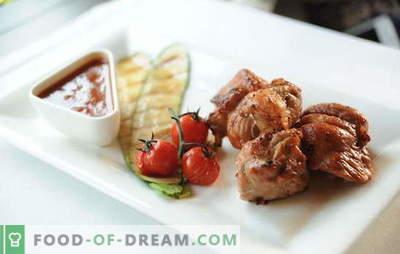 Sealiha kebab äädika ja sibulaga: marinaadi saladused. Kuidas teha mahlaset sealiha šašlikit äädika ja sibulaga, meega