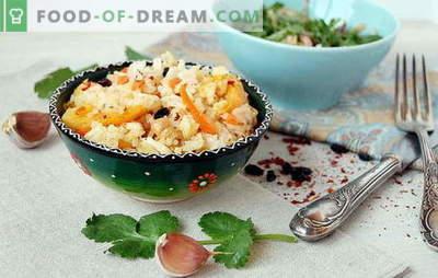 Plov ahjus: toiduvalmistamise peamised nüansid. Pilafi retseptid ahjus: liha, köögivili, magus