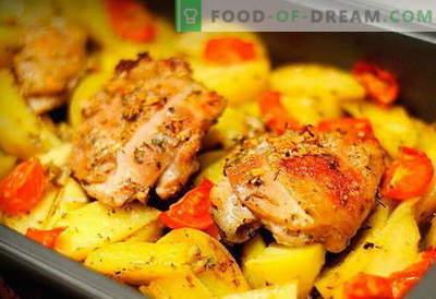 Kana kartuliga ahjus - parimad retseptid. Kuidas korralikult ja maitsvalt küpsetada ahjus kana kartuliga ahjus.
