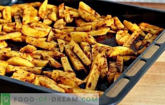 Prantsuse friikartulid ahjus - minimaalne kahju ja maksimaalne maitse! Kuidas valmistada praetud friikartuleid ahjus - retseptid samm-sammult kirjeldusega
