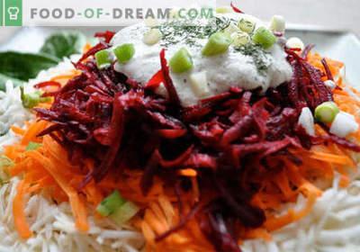 Салата од цвекло и морков - избор на најдобри рецепти. Како правилно и вкусно да се подготви салата од цвекло и моркови.