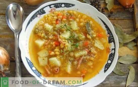 Граховата супа със свинско месо е традиционно ястие от всички времена. Рецепти с дебела, богата на грах супа със свинско месо