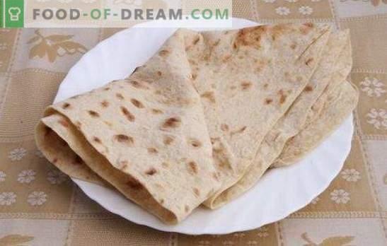 Pita leib kodus - erinevate lamedate kookide retsept. Kasulikud näpunäited ja pita leiva retseptid kodus