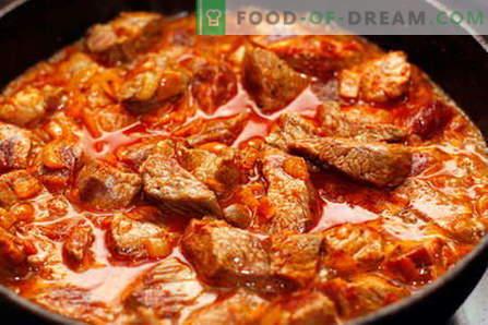 Veiseliha guljaš - parimad retseptid. Kuidas õigesti ja maitsev kokk veiseliha guljaš.