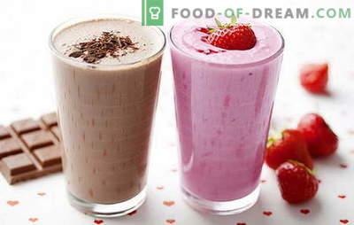 Kodune piimakokteili retsept: marjade, puuviljade, šokolaadi, pähklitega. Parimad piimakokteilid on siin!