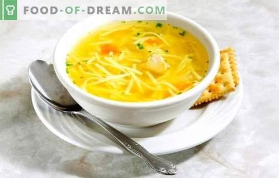 Бульон от пилешко филе - лека супа. Най-добрите рецепти за бульон от пилешко юфка: вътрешности, яйца, сирене, домати