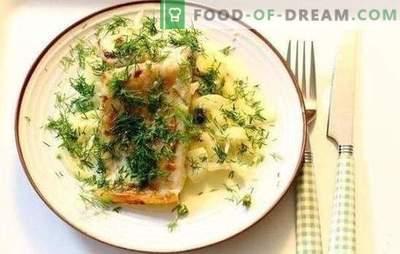 Poisson en sauce à la crème - un goût particulier des plats de poisson. Recettes de poisson cuit à l'étouffé dans une casserole avec une sauce à la crème