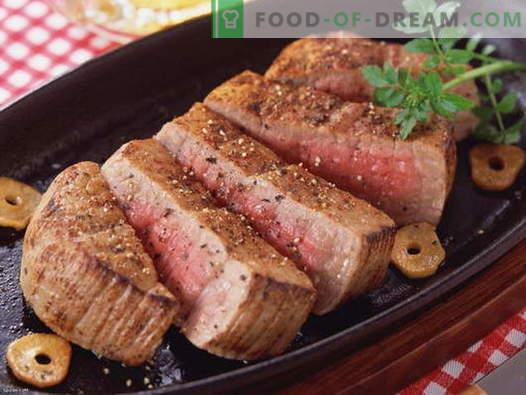 Vlees in de pan - de beste recepten. Hoe goed en smakelijk om vlees in een pan te koken.