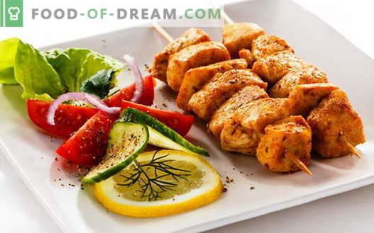 Kana Kebab - parimad retseptid. Kuidas süüa kanaliha.