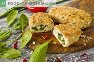 Chicken breast chicken patties with spinach and cheese