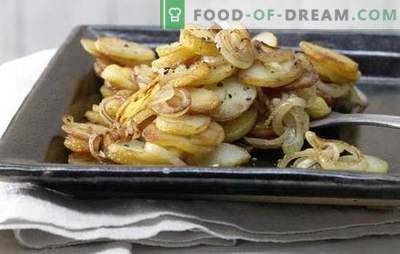 Praetud kartulid sibulaga - ajatu! Praetud kartulite retseptid sibula, seente, liha, maksa, peekoniga