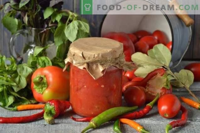 Tomatid oma mahlas koos Bulgaaria pipariga talvel