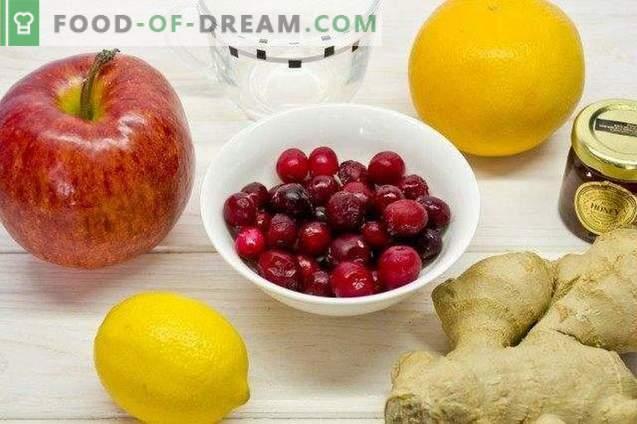 Puuvilja jõhvika Smoothie - vitamiini kokteil