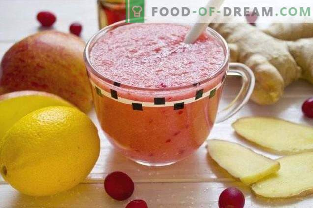 Fruit Cranberry Smoothie - Vitamin Cocktail