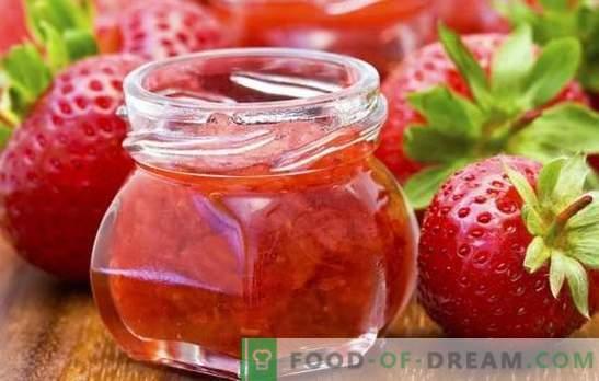 Förberedelser för vintern av jordgubbar - från sylt till komposit. De bästa och mest levande receptämnena för vintern av jordgubbar