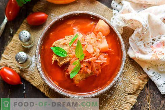 Küpsetamine maitsev Ukraina borscht vastavalt klassikaline retsept