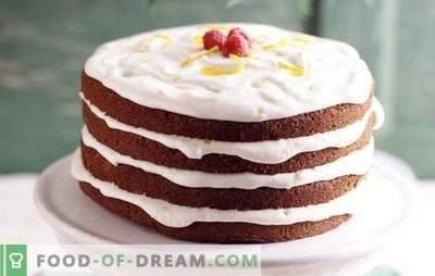 Cake met zure room: eenvoudige en bewezen recepten. Welke soorten deeg worden gebruikt voor cake met zure room