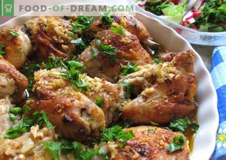 Gruusia kana - parimad retseptid. Kuidas õigesti ja maitsev kokk kana Gruusias