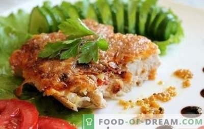 Kana tükid pannil - kuidas need mahlakadeks teha? Kana tükid pannil pannil, taignas ja muudes valikutes