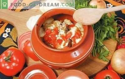 Légumes dans une marmite: chou, pommes de terre, porc et un peu plus. Une sélection des meilleures recettes de légumes dans un plat allant au four