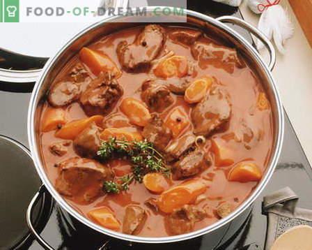 Hautatud liha - parimad retseptid. Kuidas korralikult ja maitsev kokk hautada.