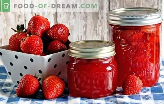 Maasikad siirupis talveks: suhkruga, sidrunhappega, želatiiniga. Konserveeritud maasikate retseptid talvisiirupis