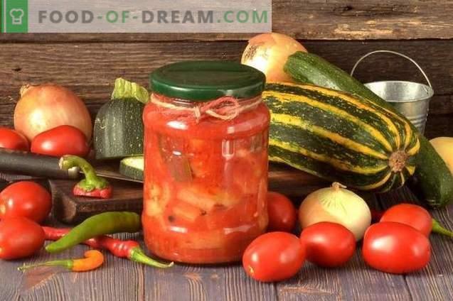 Tsukkiinitekk paprikate, tomatite ja sibulaga talveks