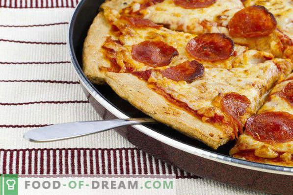 Pizza pannil 10 minutit, samm-sammult retsept, kefiiriga, leiva, singiga, majoneesiga