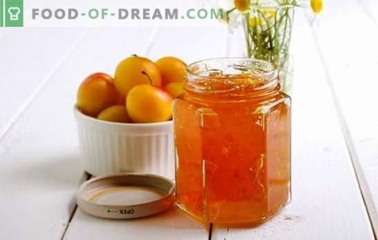 Kirsi ploomimahl oranžiga - tsementide tsellulooside aroomiga! Retseptid erinevate kirsside ploomide moosi apelsinidega