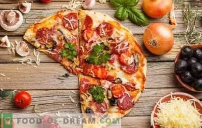 Pizza tomatite, vorsti ja juustuga - universaalne roog kõigi aegade jaoks. Parimad retseptid tomatite, vorsti ja juustuga pitsade valmistamiseks