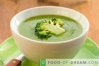Broccoli supp - parimad retseptid. Kuidas õigesti ja maitsev kokk brokkoli supp.