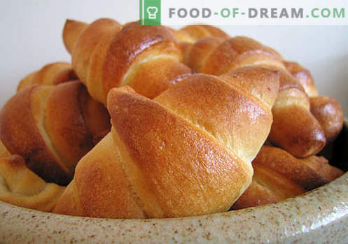 Pärmi tainast valmistatud pärmiõli on parimad retseptid. Kuidas korralikult ja maitsvalt küpsetada pärmi bagele.