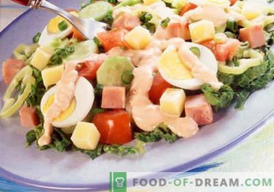 Salade du chef - une sélection des meilleures recettes. Comment bien et savoureux cuisiner un chef.